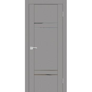 Дверь PST-5 серый бархат  SoftTouch Зеркало тонированное со стеклом
