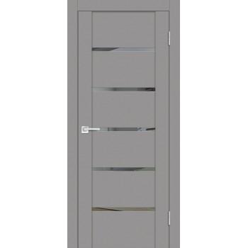Дверь PST-7 серый бархат  SoftTouch Зеркало тонированное со стеклом