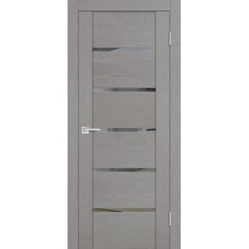 Дверь PST-7 серый ясень  SoftTouch Зеркало тонированное со стеклом