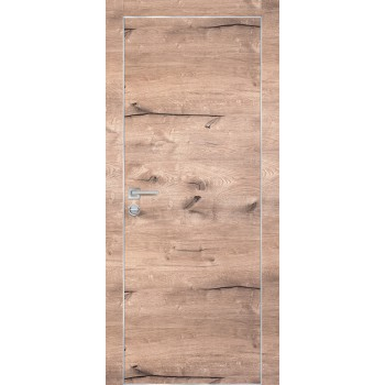 Дверь PX-1 AL кромка Дуб пацифик  Экошпон глухое