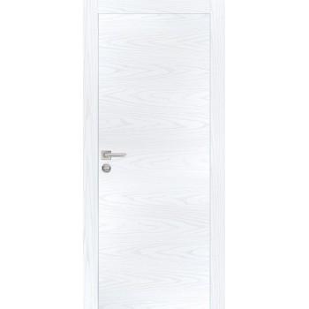Дверь PX-1 AL кромка Дуб скай белый  Экошпон глухое