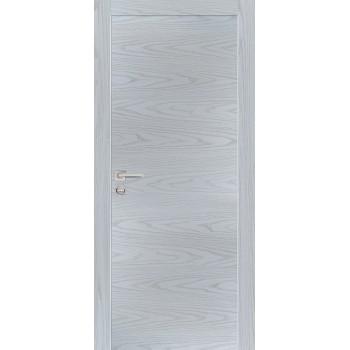Дверь PX-1 AL кромка Дуб скай серый  Экошпон глухое