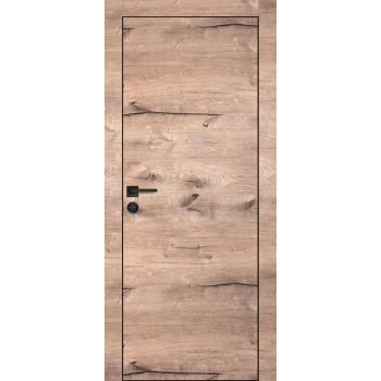 Дверь PX-1 черная кромка Дуб пацифик  Экошпон глухое
