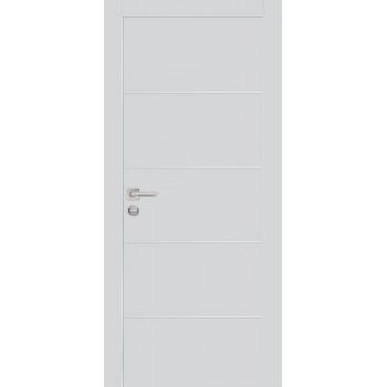 Дверь PX-12 AL кромка Агат  Экошпон глухое