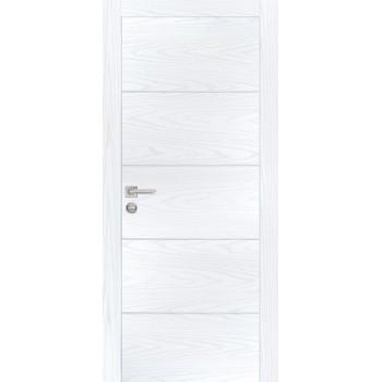 Дверь PX-12 AL кромка Дуб скай белый  Экошпон глухое