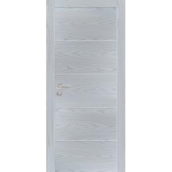 Дверь PX-12 AL кромка Дуб скай серый  Экошпон глухое