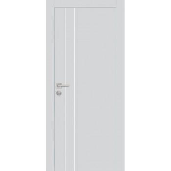 Дверь PX-14 AL кромка Агат  Экошпон глухое