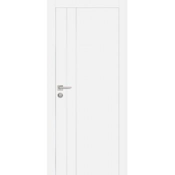 Дверь PX-14 AL кромка Белый  Экошпон глухое
