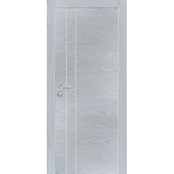 Дверь PX-14 AL кромка Дуб скай серый  Экошпон глухое