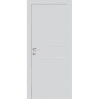 Дверь PX-15 AL кромка Агат  Экошпон глухое