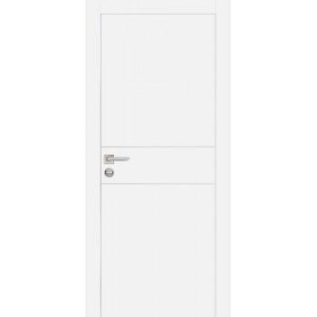 Дверь PX-15 AL кромка Белый  Экошпон глухое