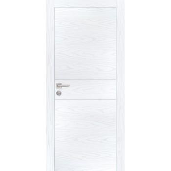 Дверь PX-15 AL кромка Дуб скай белый  Экошпон глухое