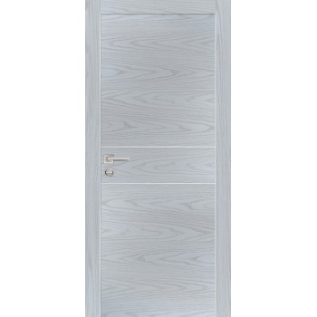 Дверь PX-15 AL кромка Дуб скай серый  Экошпон глухое