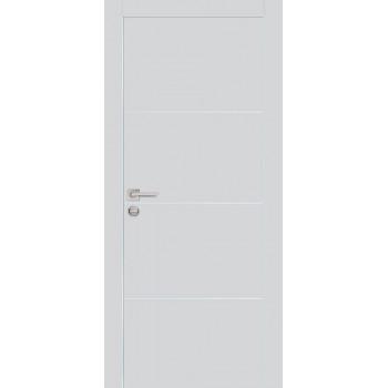 Дверь PX-2 AL кромка Агат  Экошпон глухое