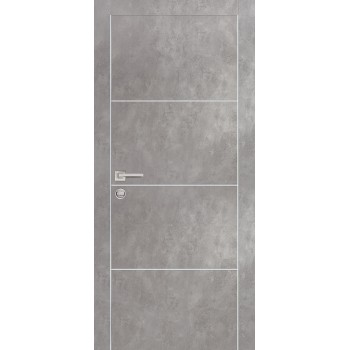 Дверь PX-2 Серый бетон  Экошпон глухое (Товар № ZF213484)