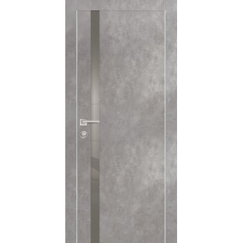 Дверь PX-8 Серый бетон  Экошпон серый лакобель со стеклом (Товар № ZF213513)