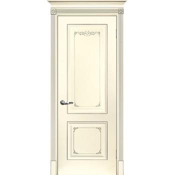 Дверь Смальта 14 Слоновая кость ral 1013 патина серебро  Эмаль глухое (Товар № ZF213529)