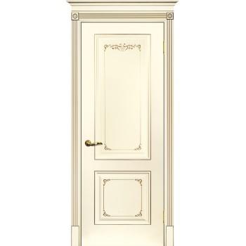 Дверь Смальта 14 Слоновая кость ral 1013 патина шампань  Эмаль глухое (Товар № ZF213530)