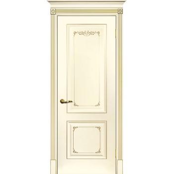 Дверь Смальта 14 Слоновая кость ral 1013 патина золото  Эмаль глухое (Товар № ZF213531)