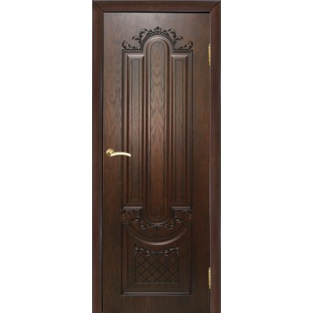 Дверь Мулино 05 Дуб коньячный  Шпон глухое (Товар № ZF213549)