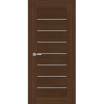 Дверь ТЕХНО-608 Орех Ночавелла  3D покрытие белый сатинат со стеклом (Товар № ZF12679)