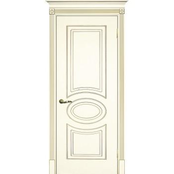 Дверь Смальта 03 Слоновая кость ral 1013 патина золото  Эмаль глухое (Товар № ZF13335)