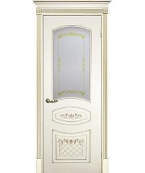 Дверь Смальта 05 Слоновая кость ral 1013  Эмаль Сатинат, шелкотрафаретная печать со стеклом (Товар № ZF13349)