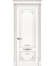 Дверь Смальта 09 Белый ral 9003 патина серебро  Эмаль глухое (Товар № ZF13369)