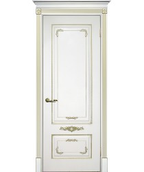 Дверь Смальта 09 Белый ral 9003 патина золото  Эмаль глухое (Товар № ZF13370)