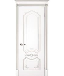Дверь Смальта 10 Белый ral 9003 патина серебро  Эмаль глухое (Товар № ZF13375)