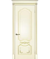 Дверь Смальта 10 Слоновая кость ral 1013 патина золото  Эмаль глухое (Товар № ZF13377)