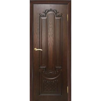 Дверь Мулино 05 Дуб коньячный  Шпон глухое (Товар № ZF14492)