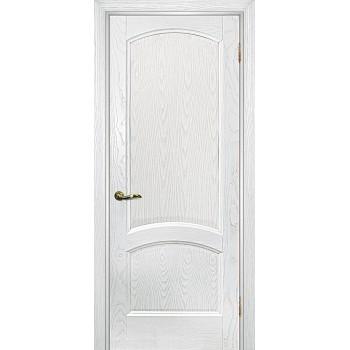Дверь Вайт 01 Ясень айсберг  Шпон глухое (Товар № ZF14499)