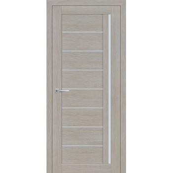 Дверь ТЕХНО-641 Светло серый  3D покрытие белый сатинат со стеклом (Товар № ZF12685)