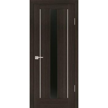Дверь PSS-02 Мокко  Экошпон черный лакобель со стеклом (Товар № ZF13233)