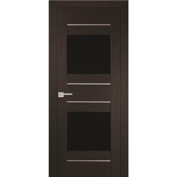 Дверь PSS-21 Мокко  Экошпон черный лакобель со стеклом (Товар № ZF13241)