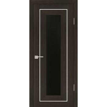 Дверь PSS-25 Мокко  Экошпон черный лакобель со стеклом (Товар № ZF13245)