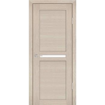 Дверь PS-03 Капучино Мелинга  Экошпон белый сатинат со стеклом (Товар № ZF12776)
