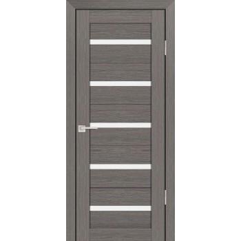 Дверь PS-07 Грей Мелинга  Экошпон белый сатинат со стеклом (Товар № ZF12806)