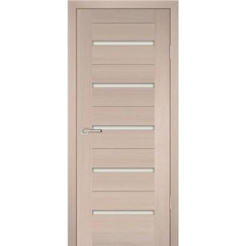 Дверь PS-07 Капучино Мелинга  Экошпон белый сатинат со стеклом (Товар № ZF12807)