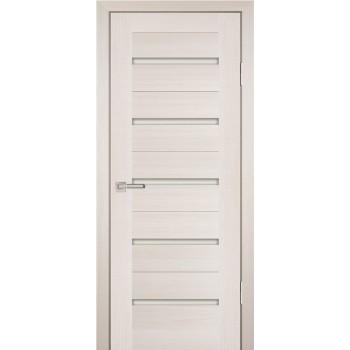 Дверь PS-07 ЭшВайт Мелинга  Экошпон белый сатинат со стеклом (Товар № ZF12808)