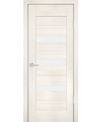 Дверь PS-09 ЭшВайт Мелинга  Экошпон белый сатинат со стеклом (Товар № ZF12819)