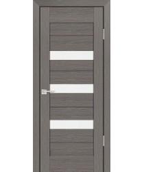 Дверь PS-09 Грей Мелинга  Экошпон белый сатинат со стеклом (Товар № ZF12820)