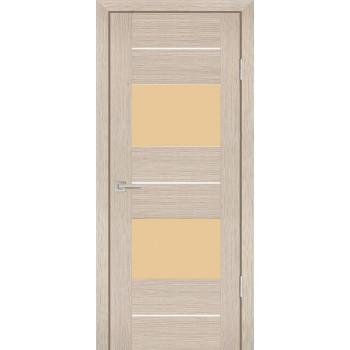 Дверь PS-21 Капучино Мелинга  Экошпон кремовый лакобель со стеклом (Товар № ZF12915)