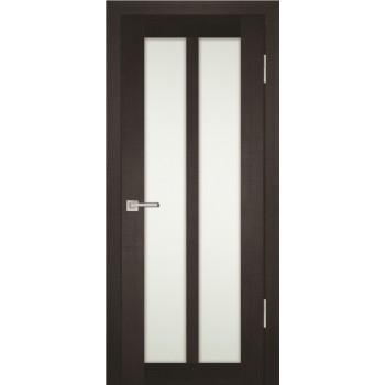 Дверь PS-22 Венге Мелинга  Экошпон белый сатинат со стеклом (Товар № ZF12916)