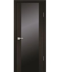 Дверь PS-24 Мокко  Экошпон Черное триплекс со стеклом (Товар № ZF12932)