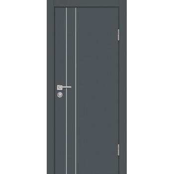 Дверь P-14 Графит  Экошпон глухое (Товар № ZF213278)
