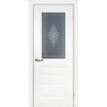 Дверь PSC-29 Белый  Экошпон Бесцветное Кристалайз со стеклом (Товар № ZF13030)