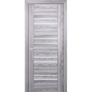 Дверь PSK-1 Ривьера грей  nanotex белый лакобель со стеклом (Товар № ZF13075)