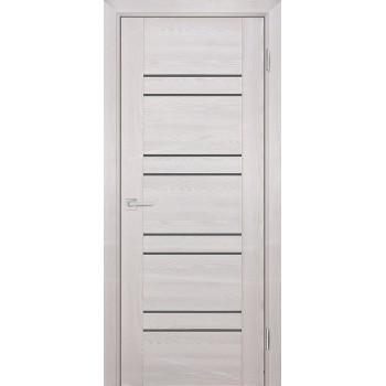Дверь PSK-1 Ривьера крем  nanotex серый лакобель со стеклом (Товар № ZF13082)